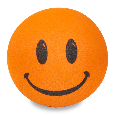 ..HappyBalls Happy Smiley Face Car Antenna Topper / Desktop Bobble Buddy (Orange)