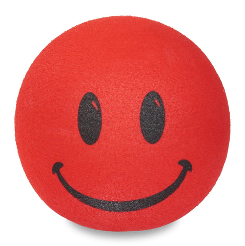 ..HappyBalls Happy Smiley Face Car Antenna Topper / Desktop Spring Stand Bobble (Red)