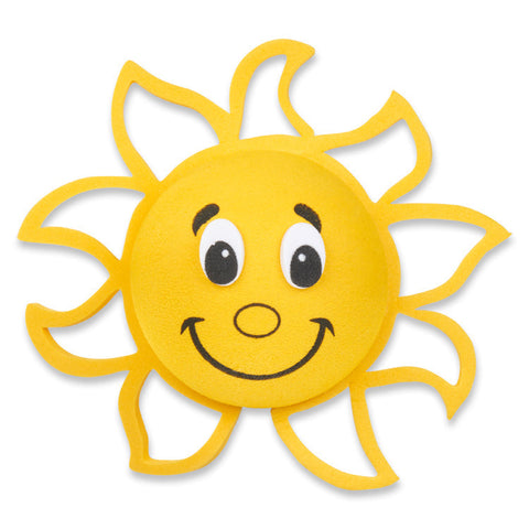 Tenna Tops Happy Smiley Sunshine Car Antenna Topper / Desktop Spring Stand Bobble