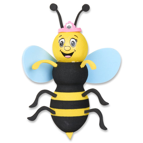 Tenna Tops Bumble Bee Queen Antenna Topper (Blue Wings) / Desktop Spring Stand Bobble
