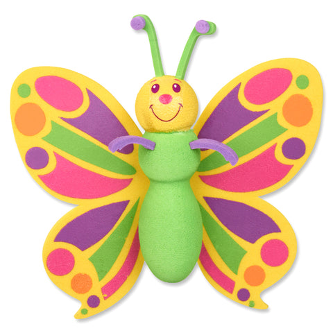 Tenna Tops Butterfly Car Antenna Topper / Desktop Spring Stand Bobble