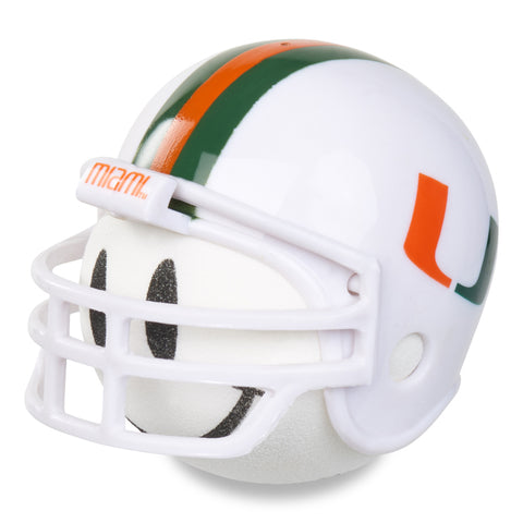 Miami Hurricanes Helmet Head Team Car Antenna Topper / Desktop Bobble Buddy (NFL Football)