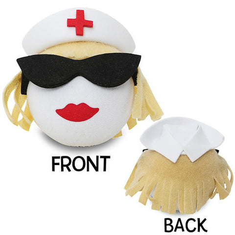 Coolballs Blonde Nurse Car Antenna Topper / Desktop Spring Stand Bobble