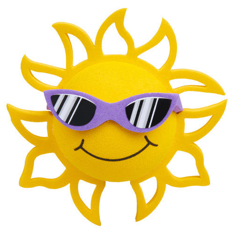 Coolballs California Sunshine w (Purple) Sunglasses Car Antenna Topper / Desktop Spring Stand Bobble