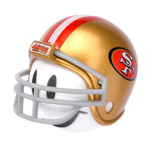 San Francisco 49ers Helmet Head Team Car Antenna Topper / Desktop Spring Stand Bobble Buddy (NFL Football)