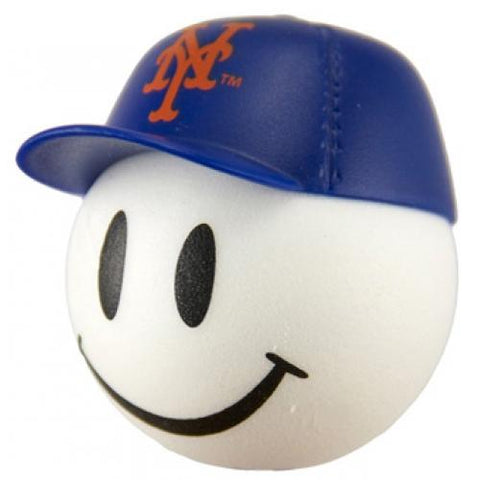 New York Mets Cap Head Car Antenna Topper / Desktop Bobble Buddy (MLB Baseball)