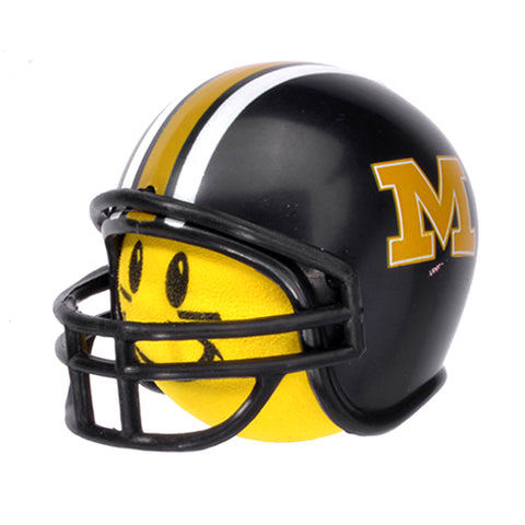 HappyBalls Missouri Tigers Helmet Head Team Car Antenna Topper / Desktop Spring Stand Bobble Buddy (College Football)(Yellow Face)