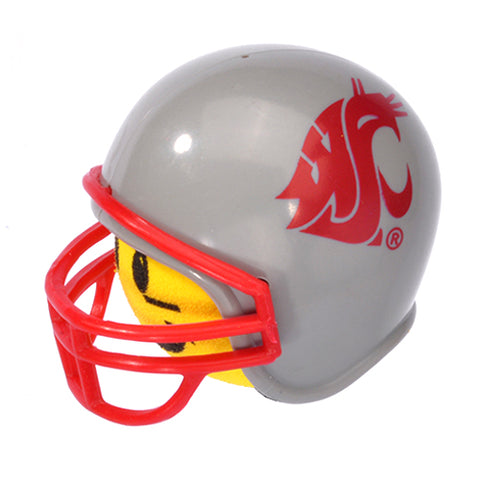 HappyBalls Washington State Cougars Helmet Head Team Car Antenna Topper / Desktop Spring Stand Bobble Buddy (College Football)(Yellow Face)