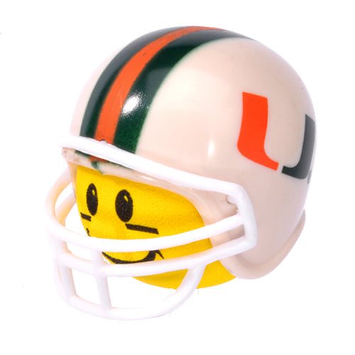 Miami Hurricanes Helmet Head Team Car Antenna Topper / Desktop Bobble Buddy (College Football)(Yellow Face)