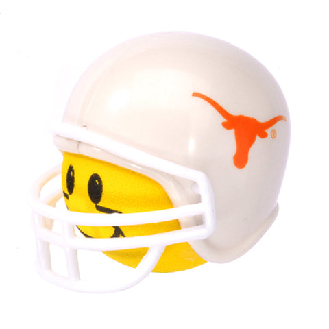 HappyBalls Texas Longhorns Helmet Head Team Car Antenna Topper / Desktop Spring Stand Bobble Buddy (College Football)(Yellow Face)