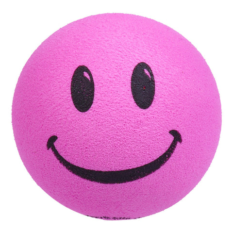 ..HappyBalls Happy Smiley Face Car Antenna Topper / Desktop Bobble Buddy (Pink)