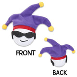 Cool Jester w/ Sunglasses Car Antenna Topper