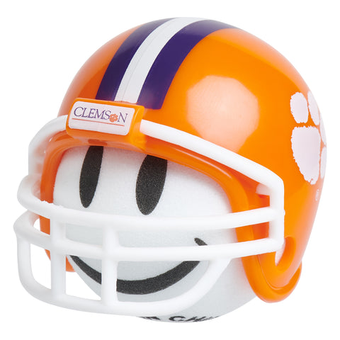 Clemson Tigers Football Car Antenna Topper / Desktop Spring Stand Bobble (White Smiley)