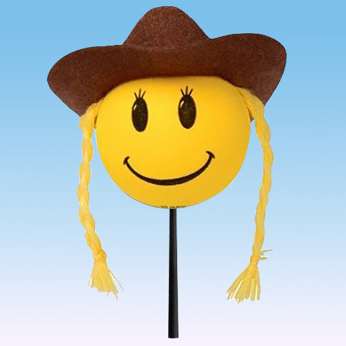 HappyBalls Cowgirl Car Antenna Topper / Mirror Dangler / Desktop Bobble Buddy