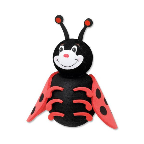 Tenna Tops Cute Ladybug Car Antenna Topper / Mirror Dangler / Desktop Spring Stand Bobble