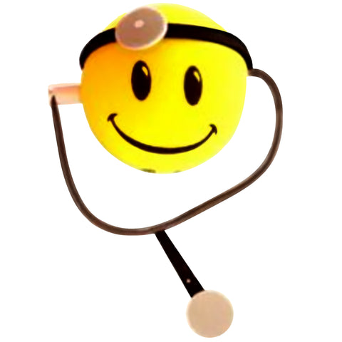 HappyBalls Doctor Car Antenna Topper / Desktop Bobble Buddy