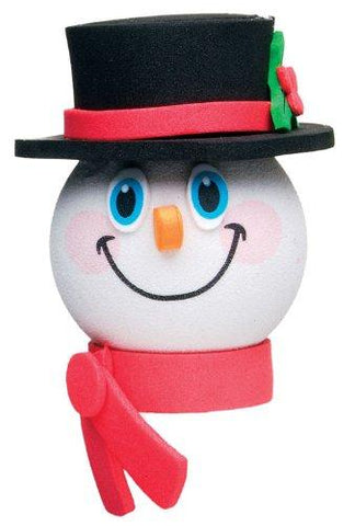 Tenna Tops Winter Frosty the Snowman Antenna Topper / Desktop Spring Stand Bobble