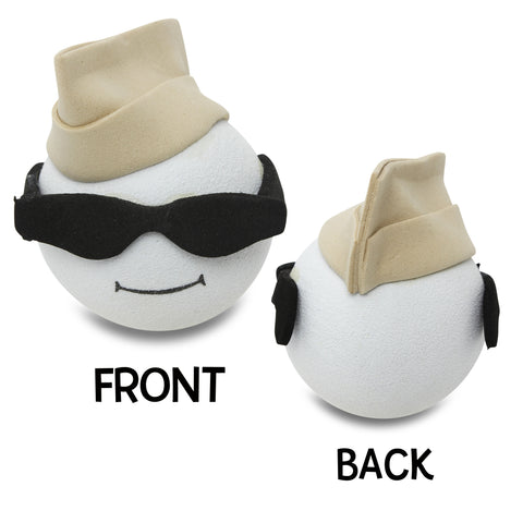 Coolballs Air Force Guy Antenna Topper (Tan Hat)