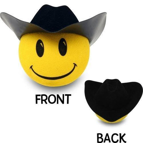 HappyBalls Cowboy Car Antenna Topper / Desktop Spring Stand