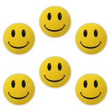 ..HappyBalls Happy Smiley Happy Face Car Antenna Toppers / Desktop Bobble Buddies (Pack of 6 Yellow)