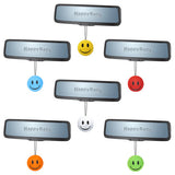 ...HappyBalls Happy Smiley Happy Face Car Antenna Toppers / Desktop Bobble Buddy (Pack of 6 Assorted Colors)