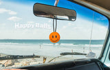 ..HappyBalls Happy Smiley Face Car Antenna Topper / Desktop Spring Bobble Buddy (Orange)