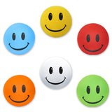 HappyBalls 6 Pack Assorted Colors Smiley Happy Face Car Antenna Toppers & Mirror Danglers