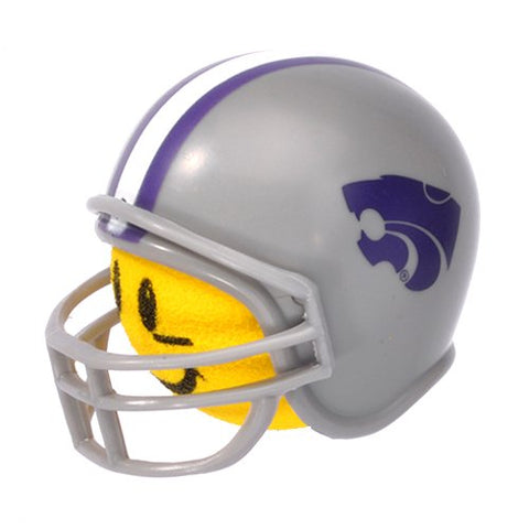 HappyBalls Kansas State Wildcats Helmet Head Team Car Antenna Topper / Desktop Spring Stand Bobble Buddy (College Football)(Yellow Face)