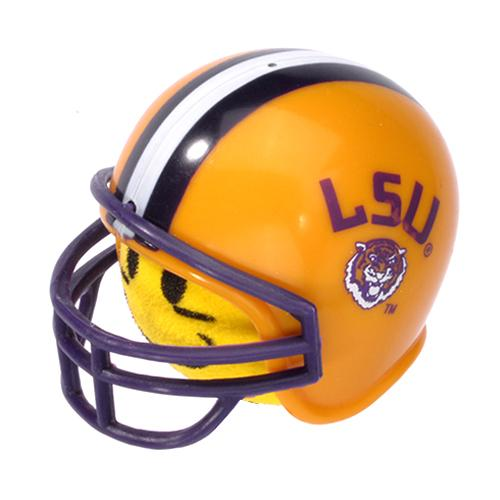 HappyBalls LSU Tigers Helmet Head Team Car Antenna Topper / Desktop Spring Stand Bobble Buddy (College Football)(Yellow Face)