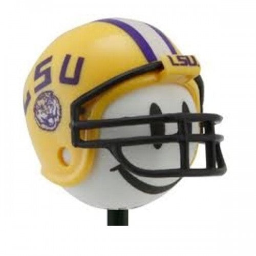 LSU Tigers Football Car Antenna Topper / Desktop Spring Stand Bobble (White Smiley)