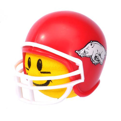 HappyBalls Arkansas Razorbacks Helmet Head Team Car Antenna Topper / Desktop Spring Stand Bobble Buddy (College Football)(Yellow Face)