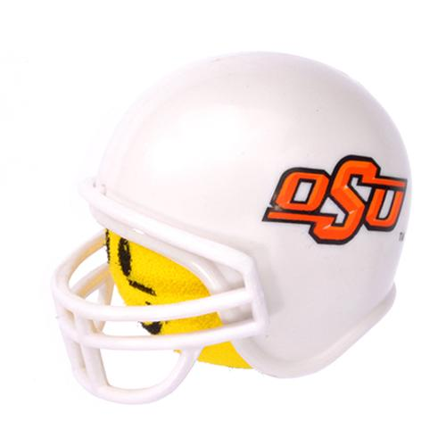 Oklahoma State Cowboys Helmet Head Team Car Antenna Topper / Desktop Bobble Buddy (College Football)(Yellow Face)