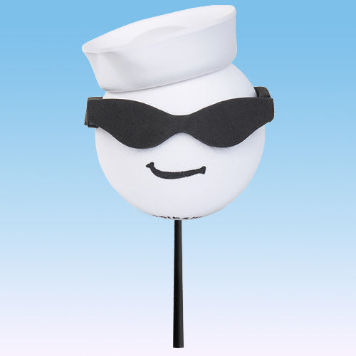 Coolballs Cool Navy w/ Sunglasses Car Antenna Topper / Desktop Bobble Buddy