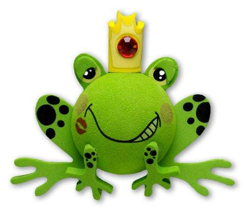 Tenna Tops Handsome Prince Frog Car Antenna Topper / Desktop Spring Stand Bobble