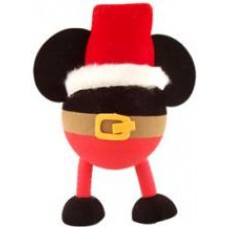 Mickey Santa w/ Legs & Belt Car Antenna Topper / Desktop Bobble Buddy