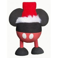 Mickey Santa w/ Legs Car Antenna Topper / Desktop Bobble Buddy