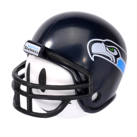 Seattle Seahawks Helmet Head Team Car Antenna Topper / Desktop Spring Stand Bobble Buddy (NFL Football)