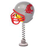 Washington State Cougars Helmet Head Team Car Antenna Topper / Desktop Bobble Buddy (College Football)(Yellow Face)