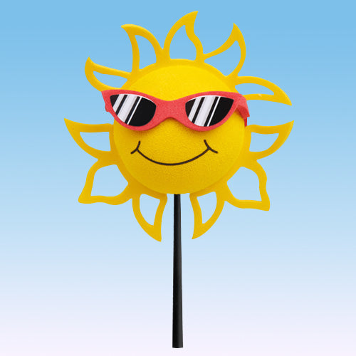 Coolballs California Sunshine w (Red) Sunglasses Car Antenna Topper / Desktop Bobble Buddy