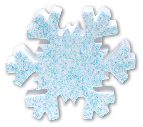 .. Tenna Tops Winter Snowflake w Blue Sparkles Antenna Topper / Desktop Spring Stand