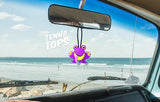 Tenna Tops Cute Purple Frog Car Antenna Topper / Desktop Spring Stand Bobble