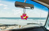 Tenna Tops Cute Red Frog Car Antenna Topper / Desktop Spring Stand