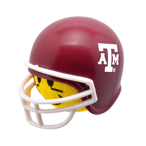 HappyBalls Texas A & M Aggies Helmet Head Team Car Antenna Topper / Desktop Spring Stand Bobble Buddy (College Football)(Yellow Face)