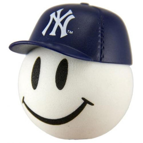 New York Yankees Cap Head Car Antenna Topper / Desktop Spring Stand Bobble Buddy (MLB Baseball)