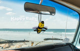 HappyBalls Happy Bee Car Antenna Topper / Desktop Spring Stand