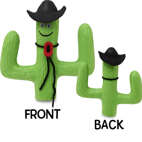 Happy Cowboy Cactus Car Antenna Topper