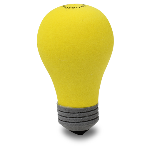 Coolballs Bright Idea Yellow Light Bulb Car Antenna Topper / Desktop Spring Stand