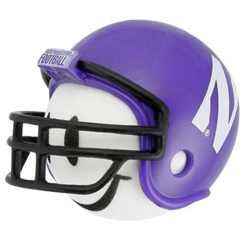 Northwestern Wildcats Helmet Head Team Car Antenna Topper / Desktop Bobble Buddy (College Football)