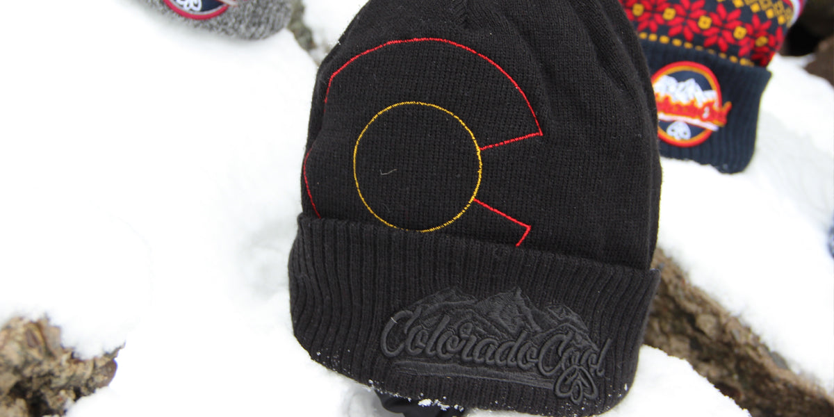 Colorado Flag Beanie - Black Colorado Flag Beanie - Colorado Beanie - Colorado Hat