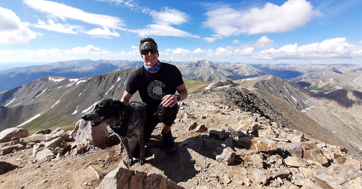 Mt Elbert Summit Colorado Flag Shirt
